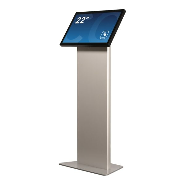 Tablet Kiosk Stand FLEXI Stand Base Model seen in a 45 degree angle by Conceptkiosk