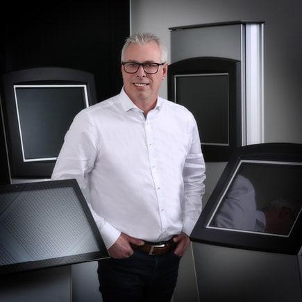 Lars Rosendahl standing in front of kiosks