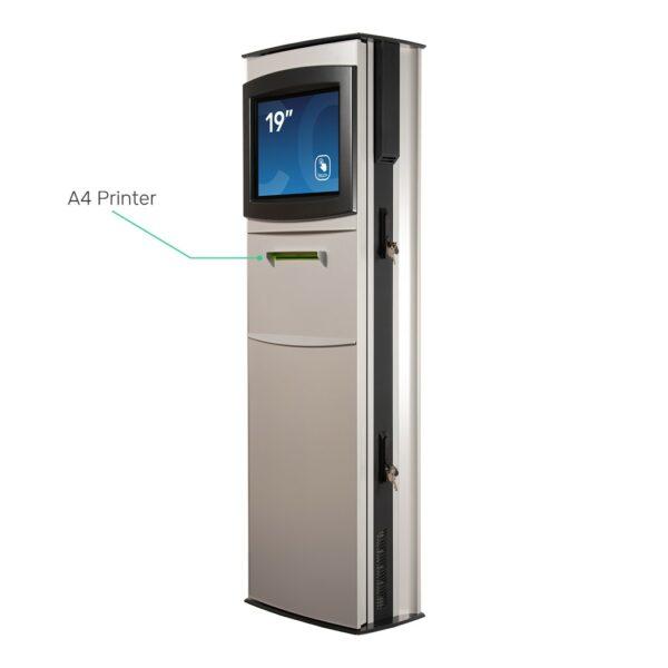 Custom outdoor kiosk with A4 printer - FLEXI Outdoor