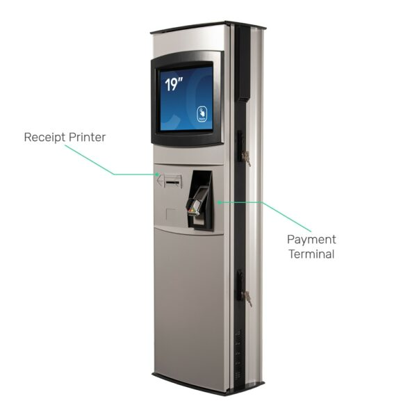 Custom outdoor kiosk with receipt printer and payment terminal - FLEXI Outdoor