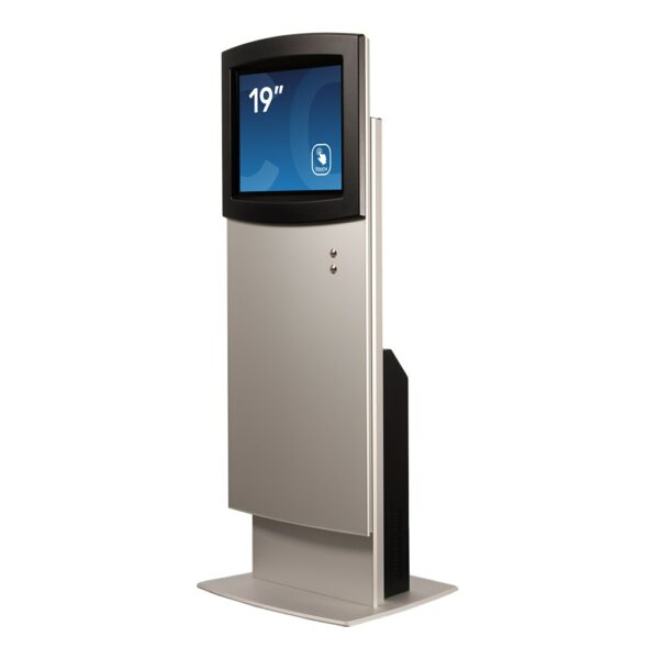 Low setting for height-adjustable kiosk FLEXI Adjust by Conceptkiosk