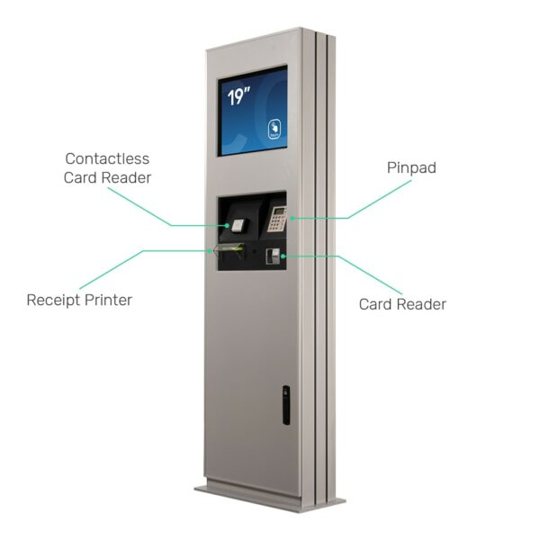 Outdoor kiosk with integrated payment and receipt printer by Conceptkiosk