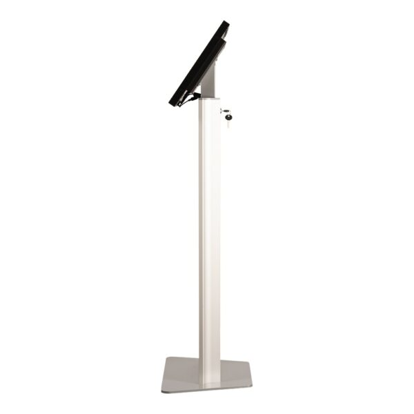 Tablet kiosk stand side view of FLEXI Stand Base Model by Conceptkiosk