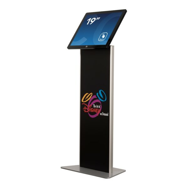 Tablet kiosk stand with graphic laminate FLEXI Stand by Conceptkiosk