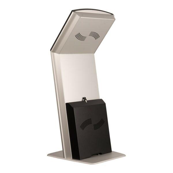 Back view touch screen kiosk FLEXI Tilt Base Model by Conceptkiosk